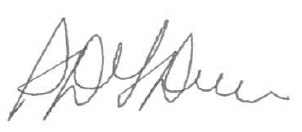 signature of Steven Del Duca, Minister of Transportation