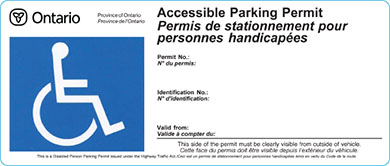 an Accessible Parking Permit