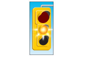 Flashing yellow light means