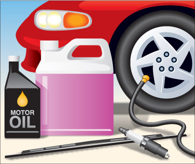 various vehicle maintenance products