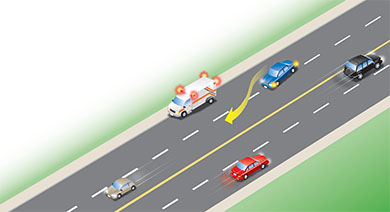 approaching an emergency vehicle