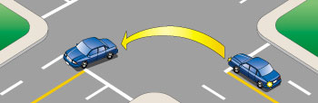 Illustration of vehicle turning left