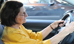 Photo of a senior driver