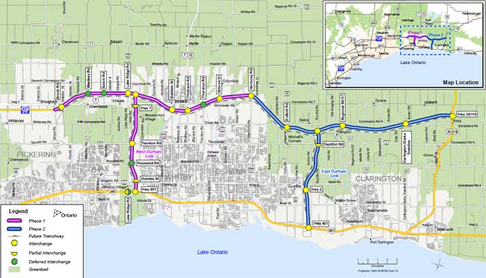 Map of Highway 407