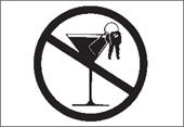 Symbol to show No Drinking and Driving