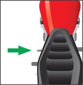 Diagram showing the shift lever