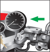 Diagram of the tachometer