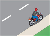 Illustration of parking motorcycle