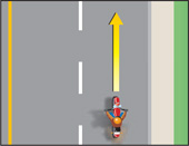 Diagram showing the wrong road position