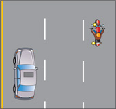 Diagram showing a test for how to safely change lanes on the highway