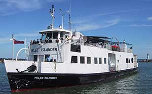 The M.V. Pelee Islander, one of two vessels that currently serves Pelee Island.