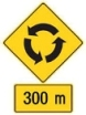 Slow down, the roundabout is 300m ahead