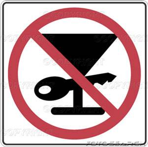 Arrive Alive, Don't Drink & Drive pictograms, easily recognized by multiple language groups.