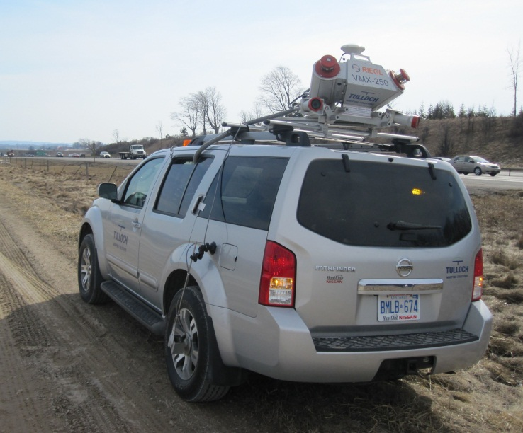 Figure 1b: Mobile LiDAR System Mounted on an SUV