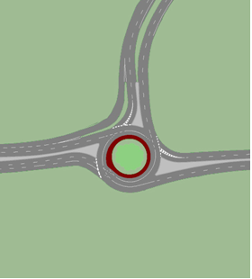 Proposed roundabout at the terminus of Highway 406 on Main Street in Welland.