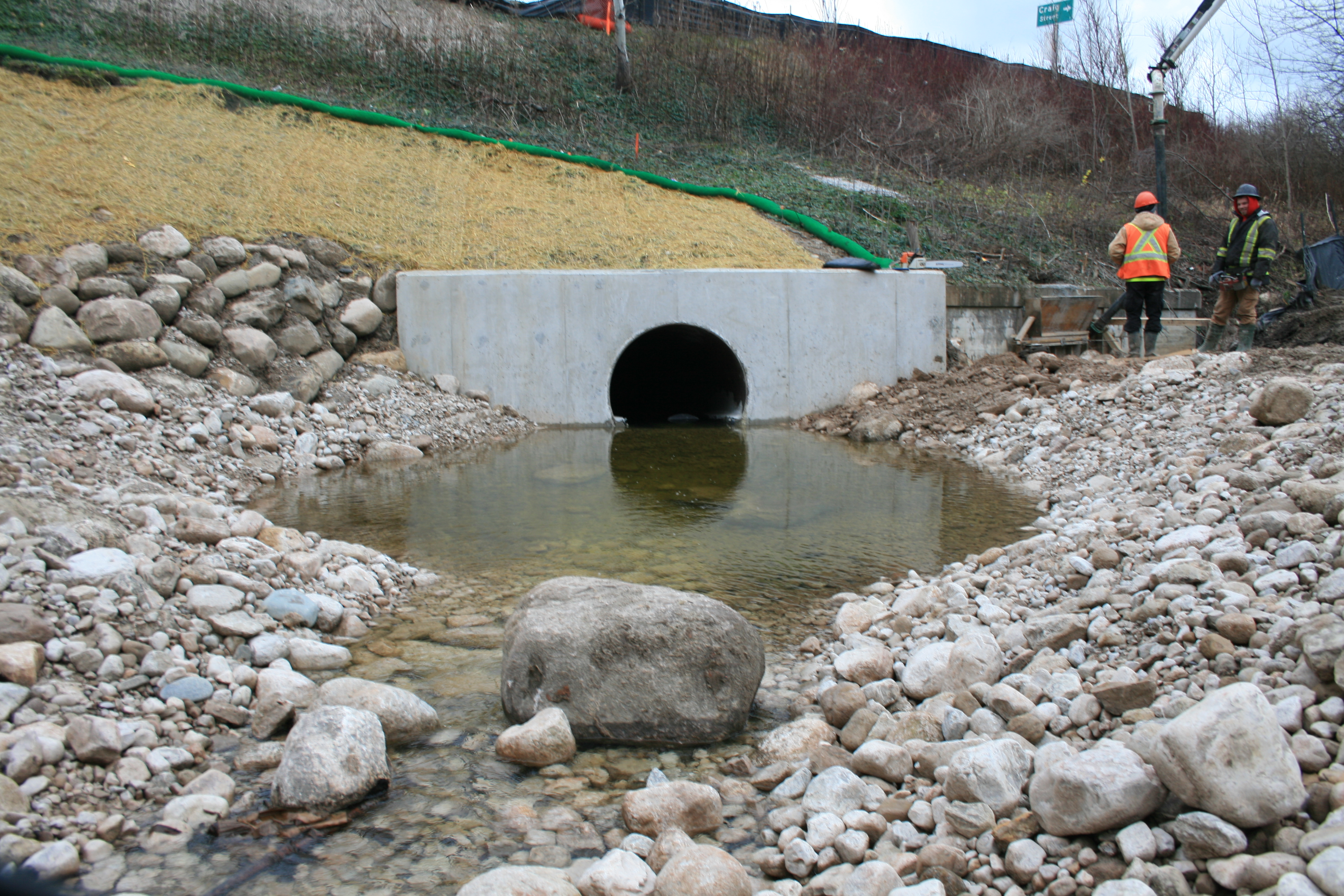 Upstream view of the new culvert. (Photo courtesy of CSPI)