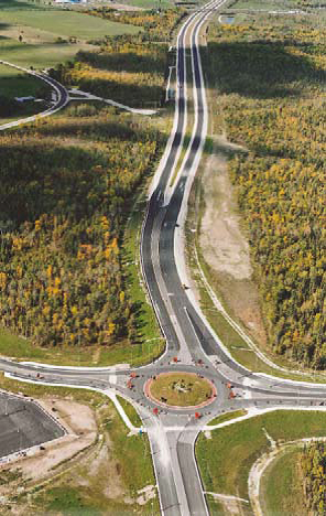 Realignment project on Highway 26, including a new roundabout.