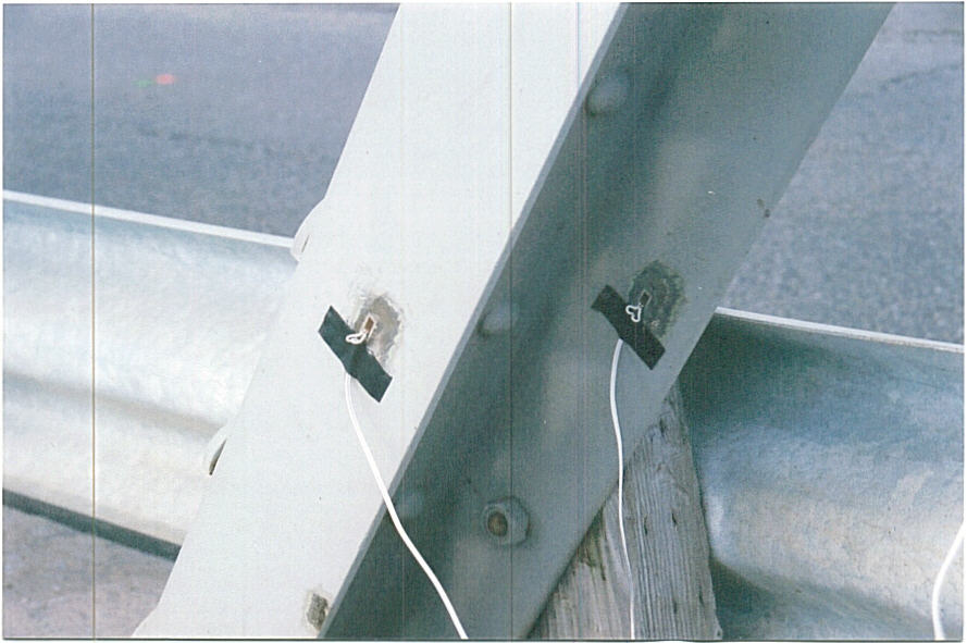 Figure 1: Strain gauges installed on a member