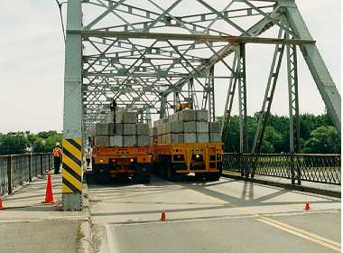 Figure 2: Test trucks on bridge