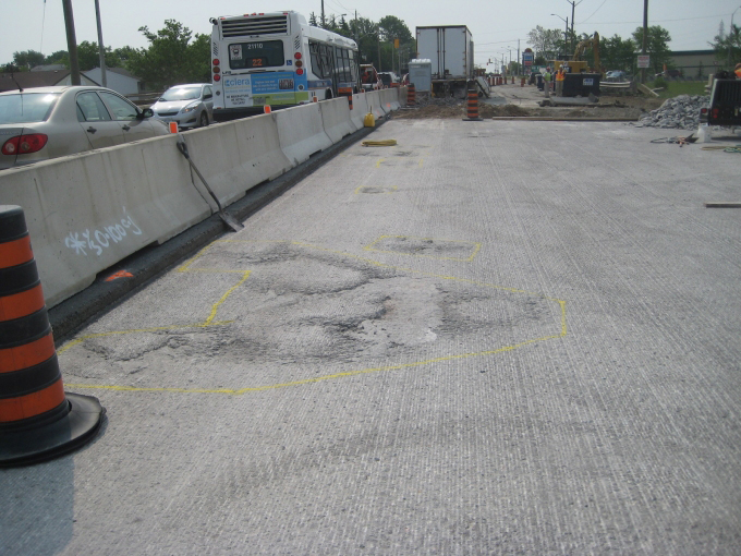 Highway 7-8 construction, West Kitchener, pavement work