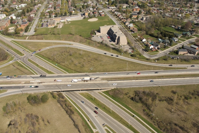 Highway 7-8, West Kitchener, Homer Watson Blvd, Arial view