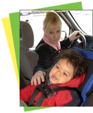 Photo of rear-facing child car seat