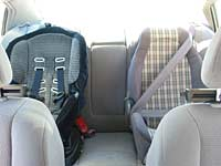 Photo of installed car seats