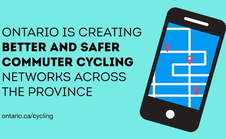 Ontario is creating better and safer commuter cycling networking across the province.