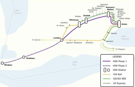 Proposed Future Southwestern Ontario Passenger Rail Network