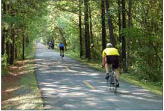 Multi-use trails can be used to provide access through natural areas, infrastructure easements or open spaces.