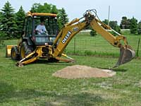 Photo of backhoe