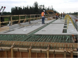 Little Savanne River bridge, Highway 17 Pre-cast full-depth deck panels