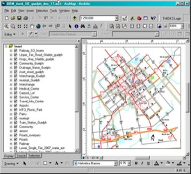 This is a picture of the Guelph inset in ArcGIS 9.2