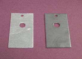 Figure 2: A combination of both steel and aluminium coupons were used in lab and field tests.