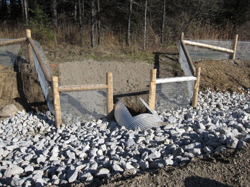 An artificial turtle nesting habitat made of fine crushed stone, sand, and gravel.