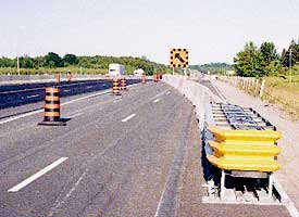 Photo of temporary concrete barrier