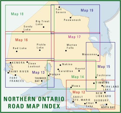 Northern Ontario Road Maps