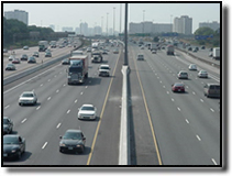 Photo of Highway 401 rush hour traffic congestion