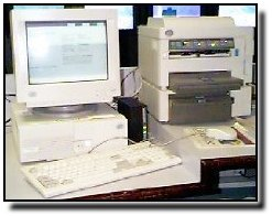Photo of computer and printer
