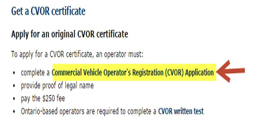 tow truck operators instructions to apply for a commercial vehicle operator s registration cvor. Black Bedroom Furniture Sets. Home Design Ideas