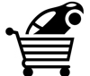 icon of shopping cart with a car in it