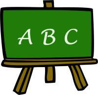 Icon of a chalk board