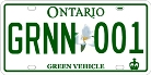 Icon of green licence plate