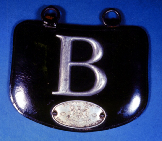 One of Ontario's first licence plates, 1903. <br> Image from MTO's collection.