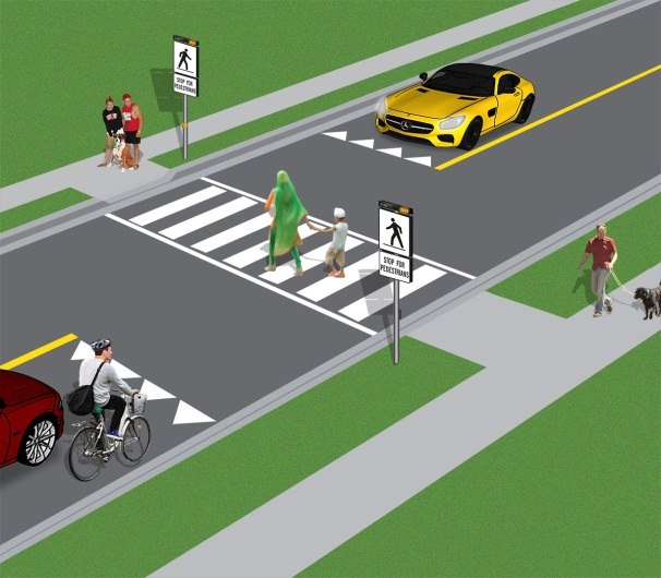 New Rules At Pedestrian Crossovers And School Crossings