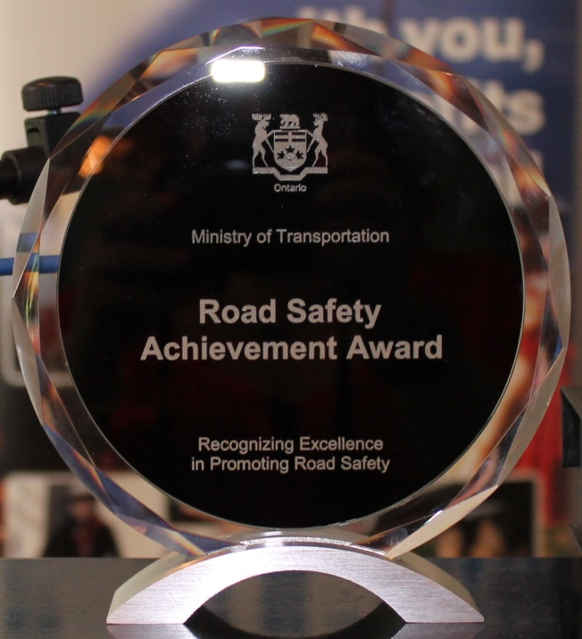 Road Safety Achievement Award Trophy