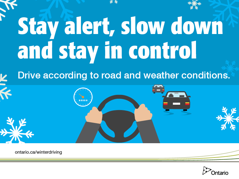 Winter driving be prepared be safe